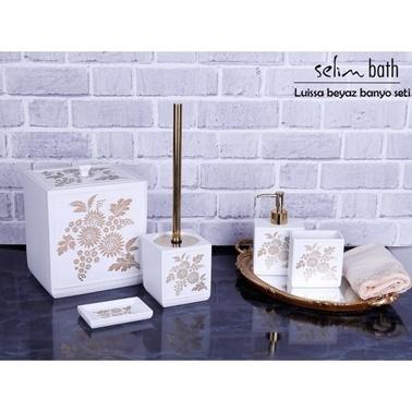 Rekabet Pazarı Selim Luissa Beyaz Altın Banyo Seti Beyaz